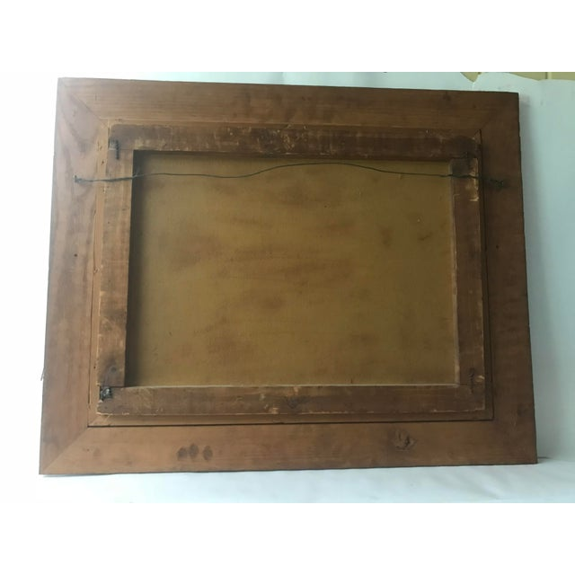 1948 Vintage William Rose Modern Oil Painting For Sale - Image 9 of 10
