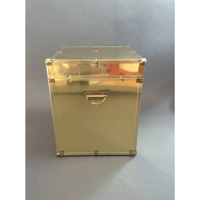1970's Brass Clad Trunk - Image 3 of 7