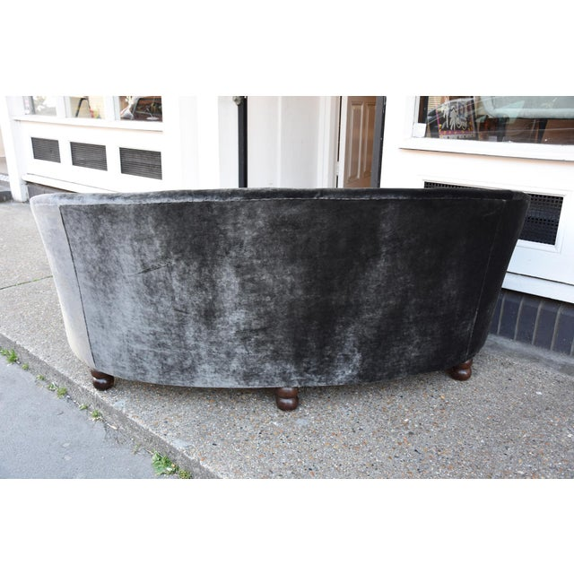 1950s An outstanding Italian design curved sofa For Sale - Image 5 of 5