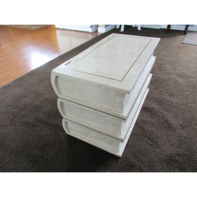 Tessellated Stone Chest -Artfully Designed Stack of Books - Image 11 of 11