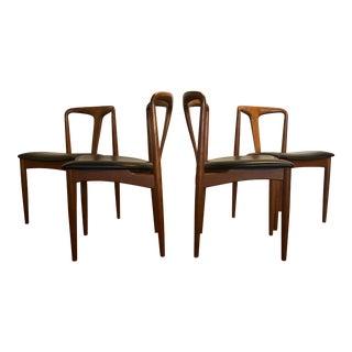 "Johannes Andersen ""Juliane"" Teak Dining Chairs for Uldum Møbelfabrik, Set of 4"