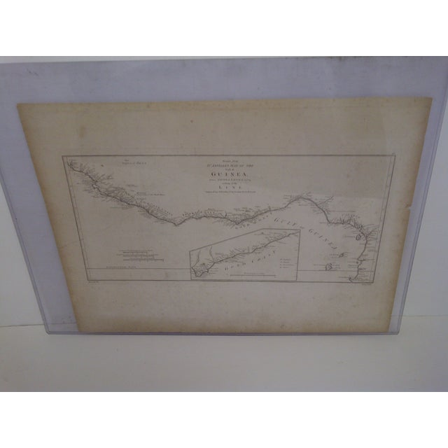 """Here is an original vintage map of the Gulf of Guinea. Titled """"Gold Coast"""". Circa 1788. Engraved in London. February 11,..."""