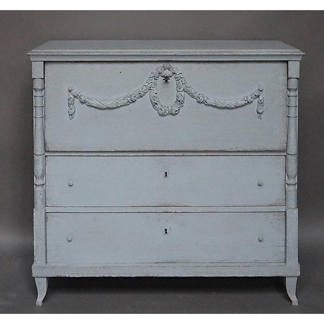 Antique Swedish Chest of Drawers With Classical Swags - Image 2 of 8