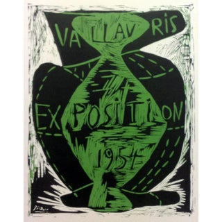 """1959 """"Exposition Vallaris 1954"""" Pablo Picasso 70, Lithograph Art in Posters, Mourlot For Sale"""