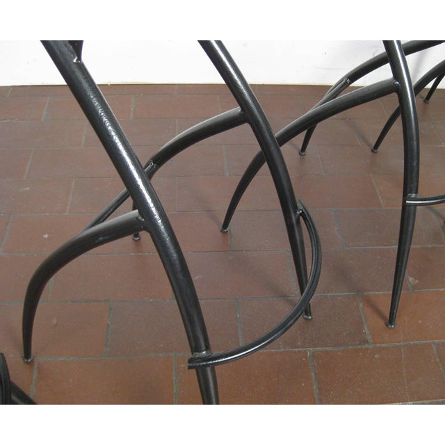 Black Postmodern Italian Bar Stools- Set of 5 For Sale - Image 8 of 10