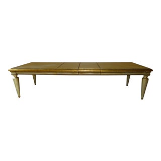 Custom Gold & Silver Leaf Dining Table