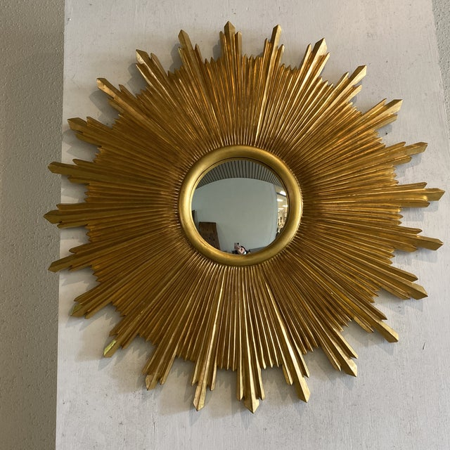 Carvers Guild Starburst Wall Mirror For Sale In Houston - Image 6 of 9