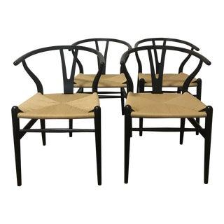 Authentic Hans Wegner Wishbone Chairs - Set of 4