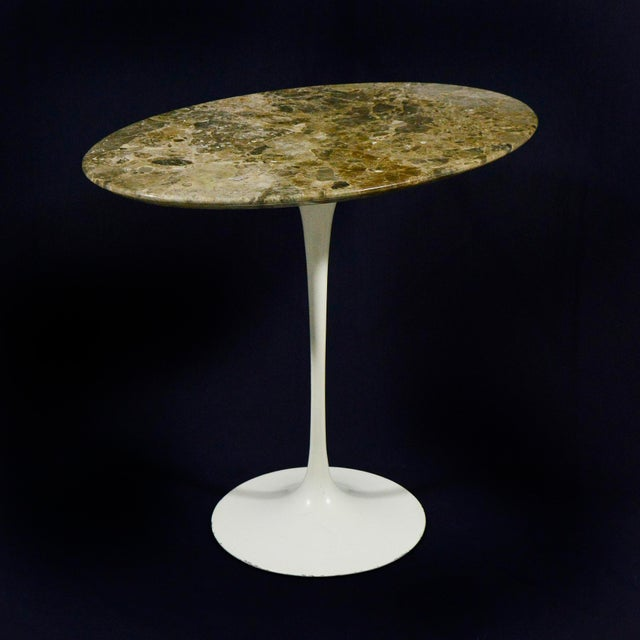 Marble Eero Saarinen Tulip Side Table With Marble Top For Sale - Image 7 of 12