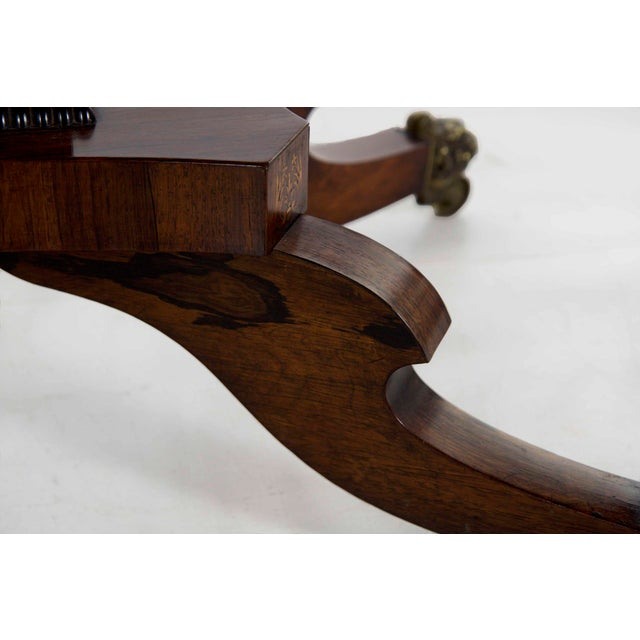 19th Century English Regency Antique Sofa Table For Sale - Image 9 of 13