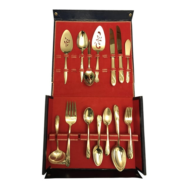 Mid-Century Holmes & Edwards Flatware - Set of 46 For Sale
