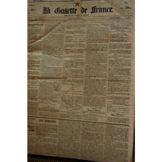 Mid 19th Century French Gazette on Stand For Sale - Image 5 of 6