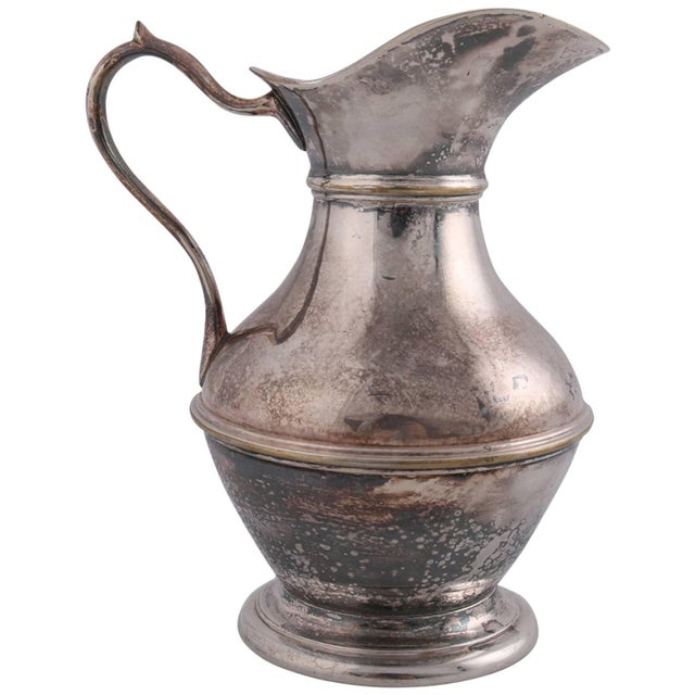 German Sterling Silver Georgian Style Pitcher 9.4 Toz Darmstadt, 19th Century For Sale - Image 13 of 13