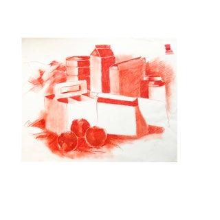 1950's Pop Art Red Still Life Painting by Salvatore Grippi