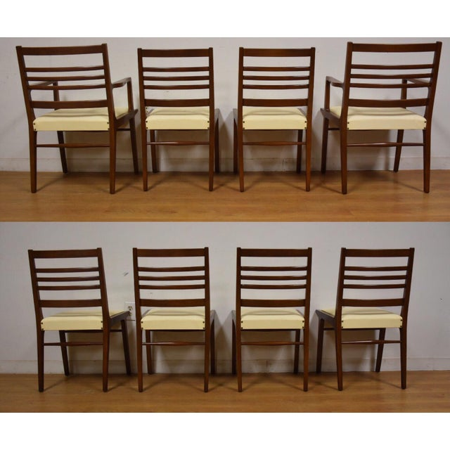 RWAY Rway White Dining Chairs - Set of 8 For Sale - Image 4 of 10