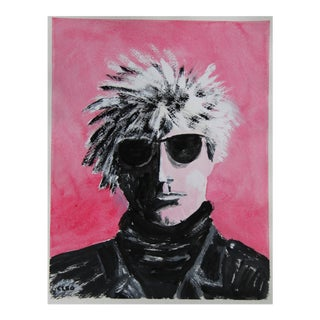 Portrait in Warhol Style by Cleo Plowden For Sale