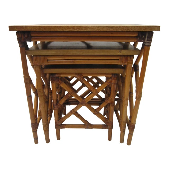 Fretwork Nesting Tables - S/3 - Image 1 of 6