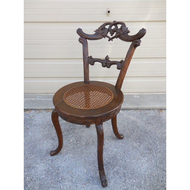 Traditional Black Forest Child's Chair For Sale - Image 3 of 6