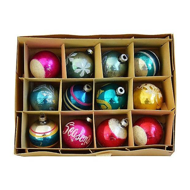 1960s Christmas Tree Ornaments w/Box - Set of 12 - Image 4 of 6