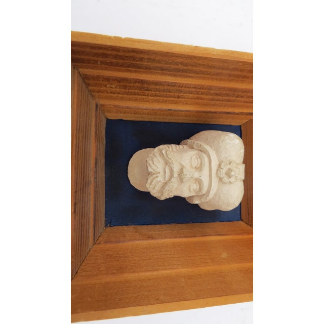 Vintage Souvenir Framed Busts - A Pair For Sale In New York - Image 6 of 7