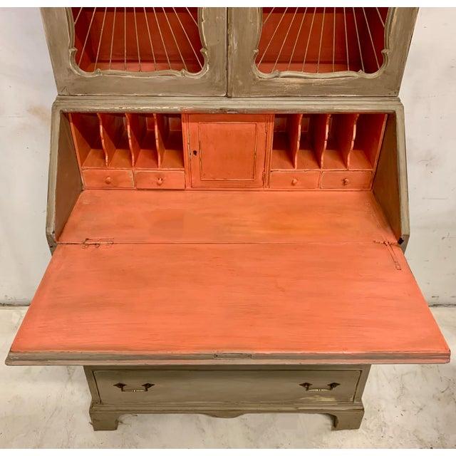 Orange John Widdicomb Sunburst Front Secretary Desk For Sale - Image 8 of 11