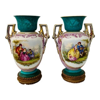 1970s French Sèvres Style Urns - a Pair For Sale