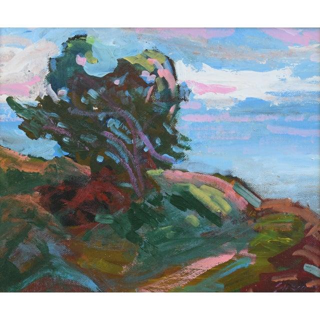 "Seascape/landscape oil painting on artist canvas panel by California artist Juan ""Pepe"" Guzman-Maldonado (b.1948 Chile)...."