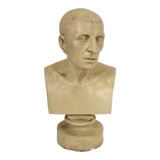 1930s Vintage Classical Male Composition Bust For Sale