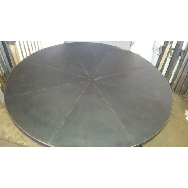 Black Round Steel Distortion Dining Table - Image 3 of 5