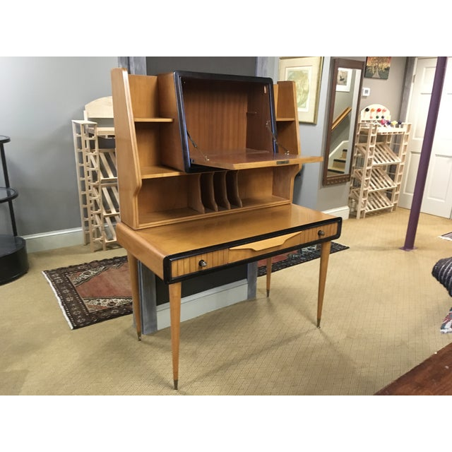 Mid century modern teak desk/bar. Amazing condition for its age. A real eye catcher.