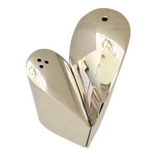 Stainless Steel Heart Salt and Pepper Shakers