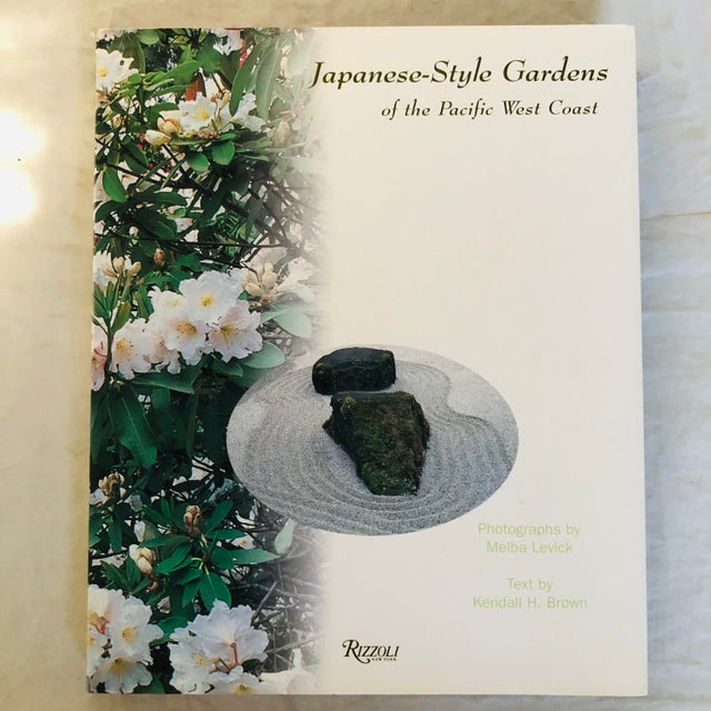 """White 1999 """"Japanese Style Gardens of the Pacific West Coast"""" Rizzoli Garden & Design Book For Sale - Image 8 of 8"""