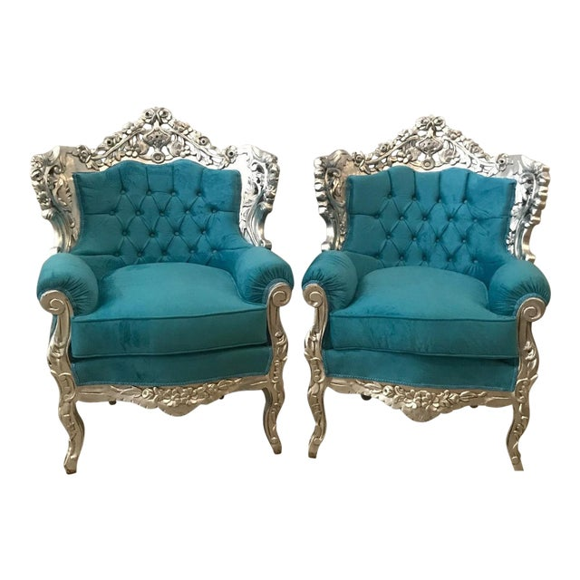 Italian Baroque Chairs - A Pair For Sale