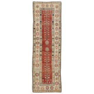 Vintage Mid-Century Turkish Oushak Runner - 2′3″ × 6′10″ For Sale