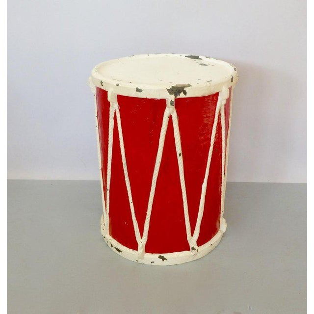 Circus Fiberglass Drum Pedestal Plant Stand For Sale - Image 4 of 6