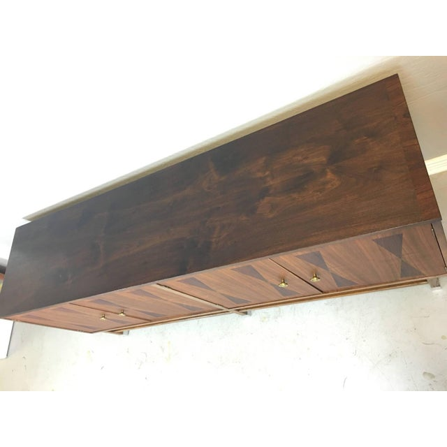 Mid-Century Walnut With Rosewood Inlay Credenza - Image 4 of 8