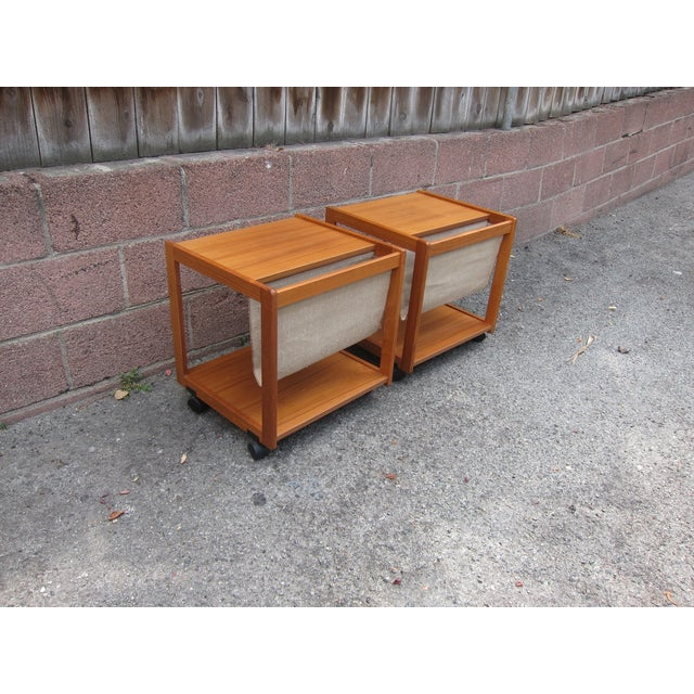 Mid-Century Magazine Storage Side Tables - A Pair - Image 3 of 3