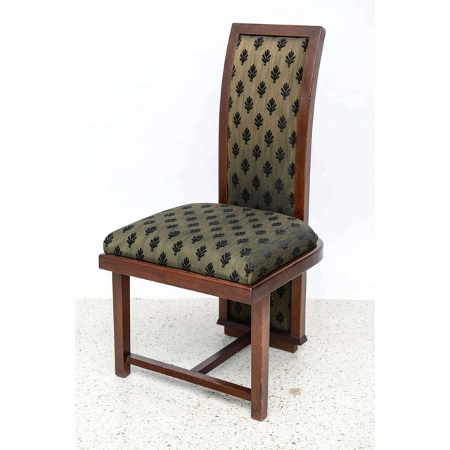 Set of 12 Frank Lloyd Wright Taliesin Mahogany Dining Chairs by Henredon For Sale - Image 5 of 9