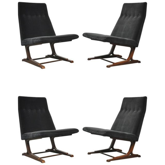 1960s Roger Sprunger for Dunbar Cantilever Lounge Chair For Sale - Image 9 of 9