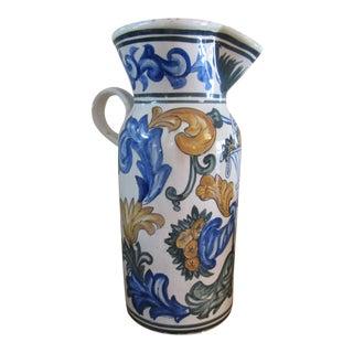Vintage Spanish Ceramic Pitcher