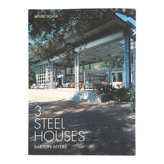 """2005 """"3 Steel Houses"""" Signed First Edition Architecture Book For Sale"""