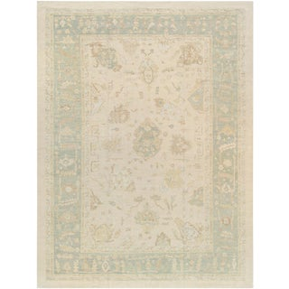 "Pasargad Home Oushak Lamb's Wool Area Rug - 12'0"" X 16'5"" For Sale"