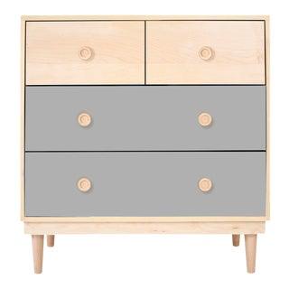 Nico & Yeye Lukka Modern Kids 4 Drawer Dresser Maple Gray For Sale