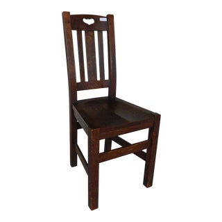 Antique Stickley Bros. Quaint Furniture Mission Oak Arts & Crafts Desk Chair For Sale
