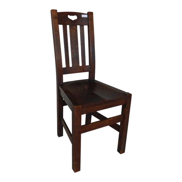 Antique Stickley Bros. Quaint Furniture Mission Oak Arts & Crafts Desk Chair - Antique Stickley Bros. Quaint Furniture Mission Oak Arts & Crafts