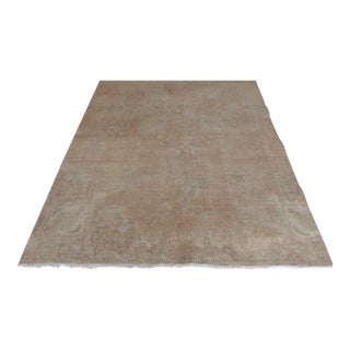 Antique Oushak Turkish Handwoven Rug - 5′7″ × 10′2″