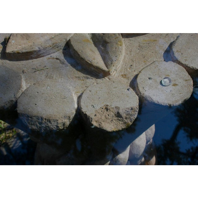 Carved Pink Cantera Stone Dining Table, Hall Table or Patio Table For Sale - Image 10 of 11
