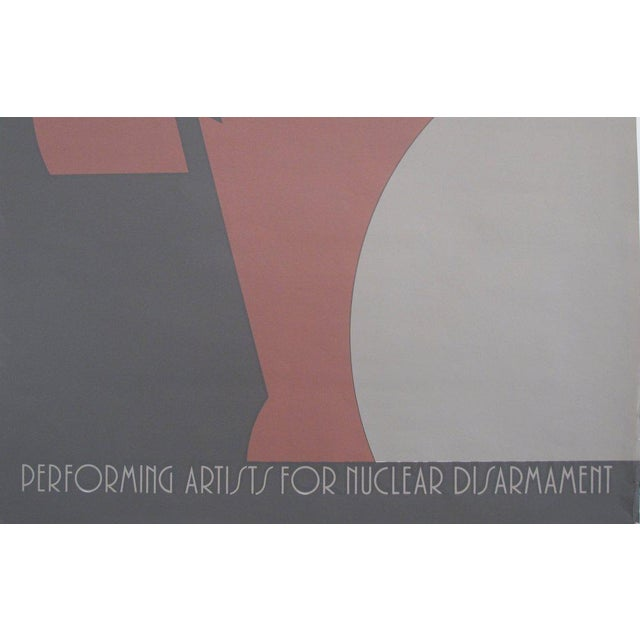 Mid-Century Modern 1980s Original Canadian Poster - Nuclear Disarmament by Theo Dimson For Sale - Image 3 of 4
