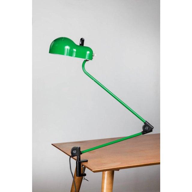 1970s Joe Colombo 'Topo' Green Task Lamp for Stilnovo For Sale In Los Angeles - Image 6 of 9