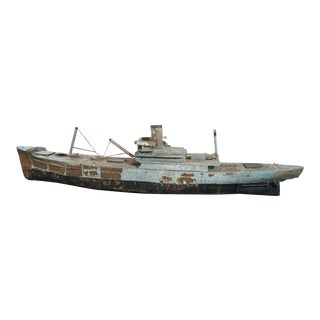 Painted Copper Ship Model For Sale